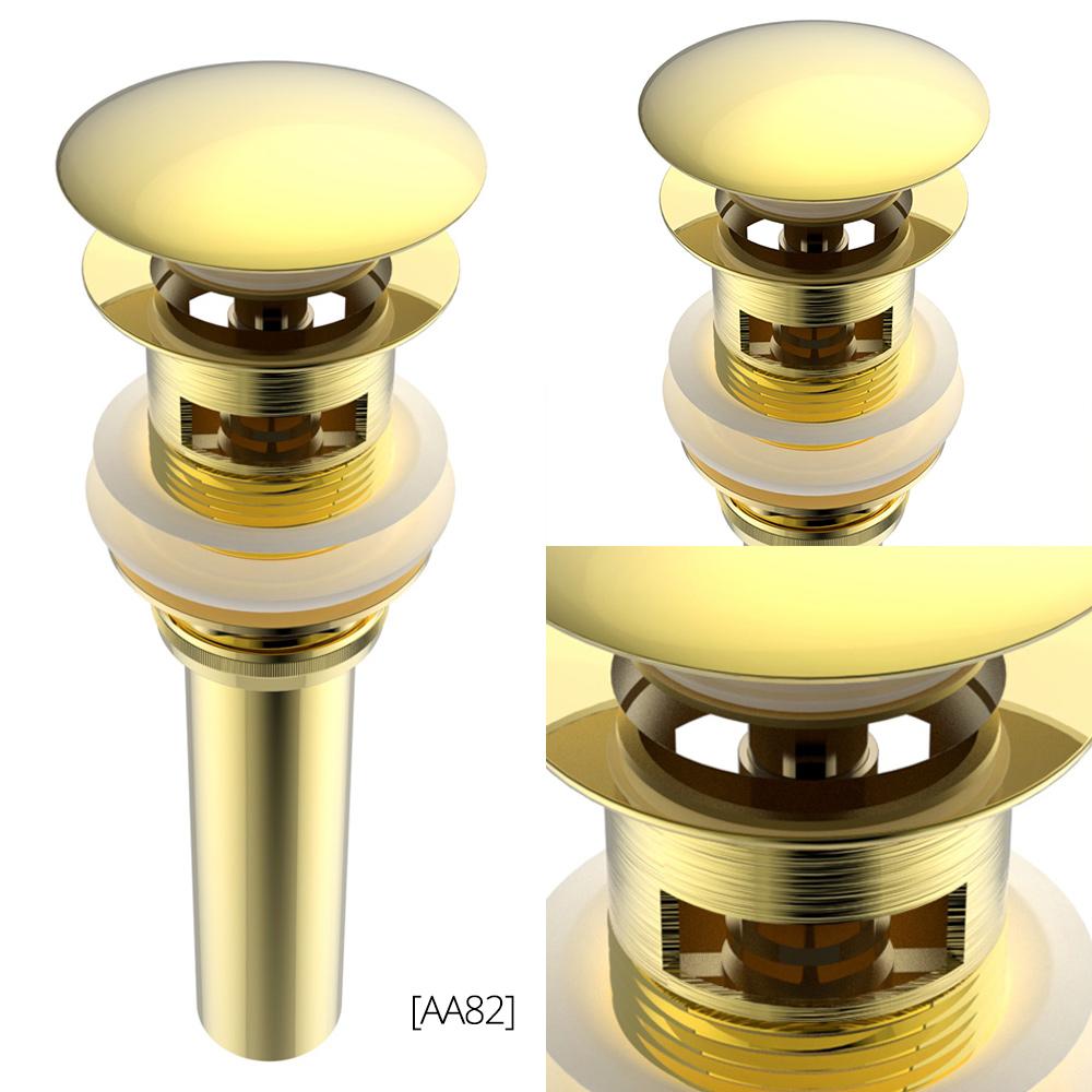 ablaufventil ablaufgarnitur abfluss ablauf ventil waschbecken druckverschluss ebay. Black Bedroom Furniture Sets. Home Design Ideas