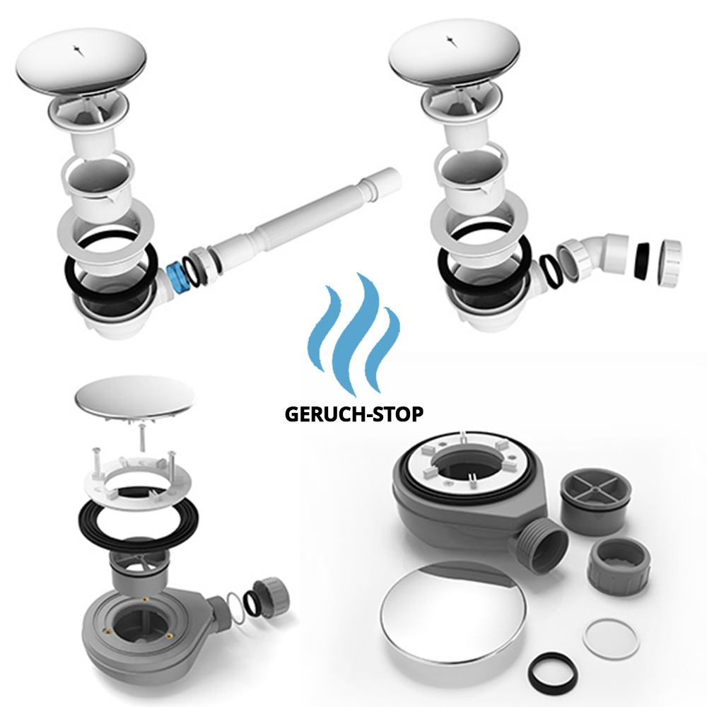 ablaufgarnitur dusche 90mm duschwanne duschtasse ablaufloch ablaufbogen siphon. Black Bedroom Furniture Sets. Home Design Ideas