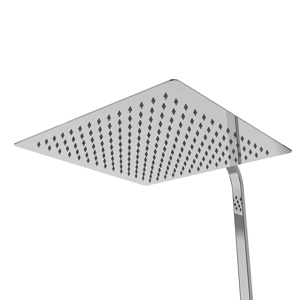 Edelstahl duschkopf duschbrause regendusche regenbrause brausekopf superslim 2mm ebay - Quadratische edelstahl designer duschkopf ...