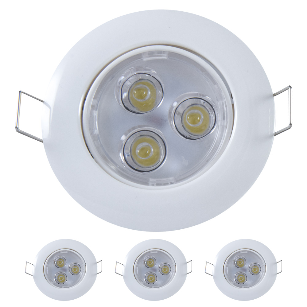 3w einbaustrahler deckenleuchte einbau strahler spot lampe. Black Bedroom Furniture Sets. Home Design Ideas